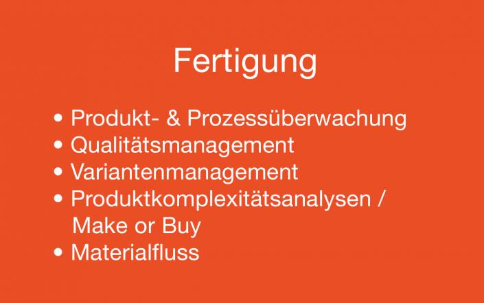 Fertigung Supply Chain