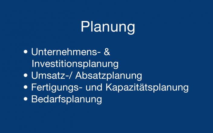 Planung Supply Chain