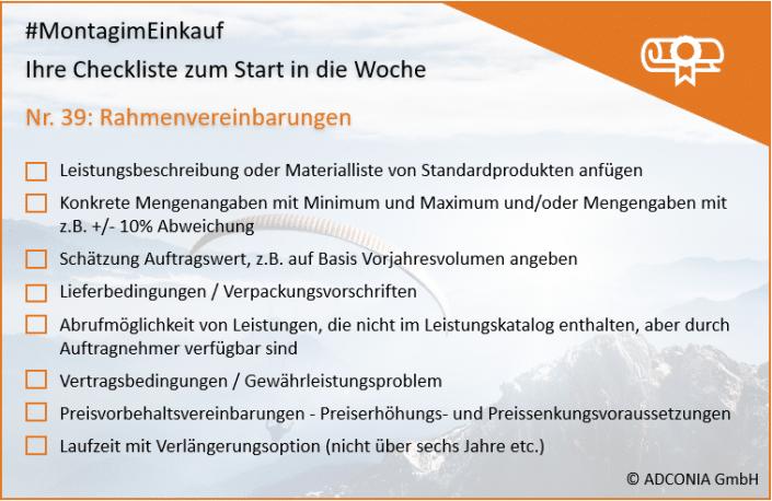 Rahmenvereinbarungen